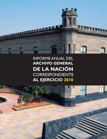 Informe 2010 - Archivo General de la Nación