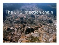 The LHC injection chain