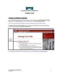 Countway Library Of Medicine PUBMED GUIDE – Harvard University