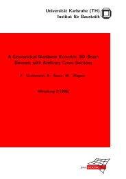 Institut für Baustatik A Geometrical Nonlinear Eccentric 3D–Beam ...