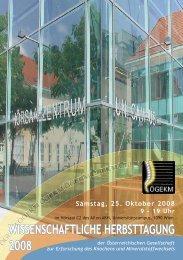 Programm Herbsttagung ÖGKM 2008.pdf - Österreichische ...