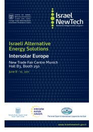 Israeli Alternative Energy Solutions Intersolar Europe