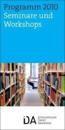 Jahresbroschüre 2010 - Internationale DAAD-Akademie (IDA)