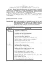 ÖĞRETMENLİK UYGULAMASI - Eğitim Fakültesi - Ege Üniversitesi