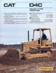 Page 1 Page 2 FEATURES Power Train Cat 3204 Engine Power ...