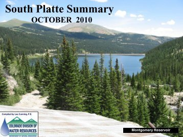 October - Colorado Division of Water Resources