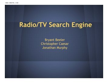 Radio/TV Search Engine - MWFTR