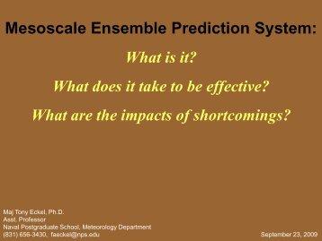 Mesoscale Ensemble Prediction System