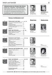 Programm 1. Halbjahr 2010 - Volkshochschule des Schwalm-Eder ...
