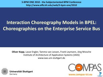 Interaction Choreography Models in BPEL ... - S-BPM ONE 2014