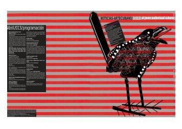 Abril/013/programación - Consejo Nacional de las Artes Plásticas