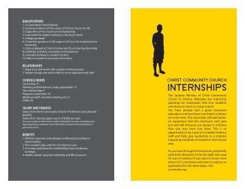 internship booklet - Christ Community Church