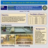 Secondary Reinforcement for FRP Reinforced Concrete