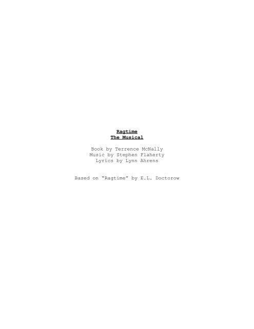 Ragtime Script pdf - Columbia Secondary School