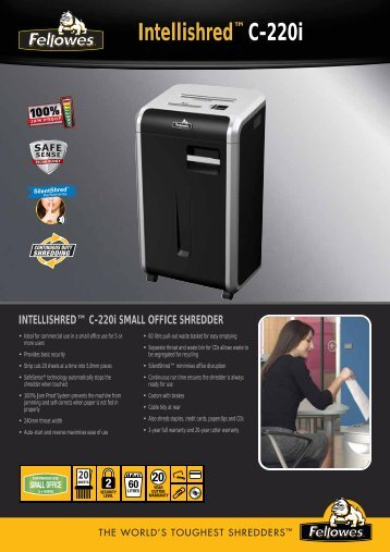 INTELLISHRED™ C-220i SMALL OFFICE ... - The Fax Shop