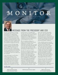Message froM the president and ceo - Medical Assurance Company ...