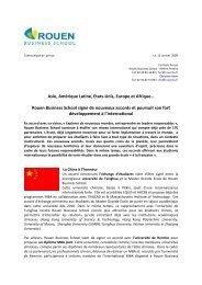 Rouen Business School signe de nouveaux accords et poursuit son ...