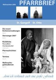 Pfarrnachrichten 2006 St. Otto - St. Gangolf