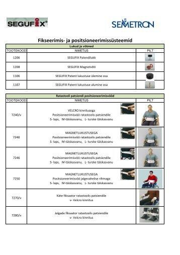 positsioneerimisrihmad ja -vööd - AS Semetron