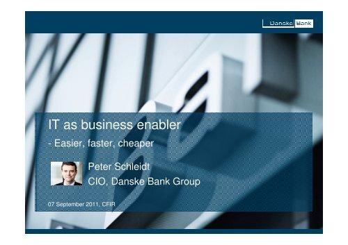 IT as business enabler - CFIR