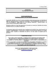 ASSURANCE PLATINUM MASTERCARD NOTICE D ... - CIC