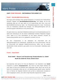 Ärzte-GmbH - Siart und Team Treuhand GmbH