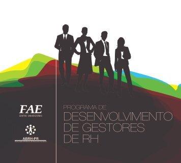DESENVOLVIMENTO DE GESTORES DE RH - FAE