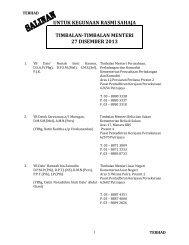 untuk kegunaan rasmi sahaja timbalan-timbalan menteri 26 july 2013