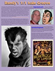 Randy Pavatte and his Werewolf of London Henry Hull in Werewolf ...
