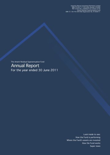 Annual Report - SuperFacts.com