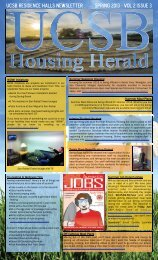 Spring 2013 - Vol 2 Issue 3 Ucsb residence halls newsletter