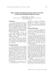 Effect of nuclear deformation parameters in heavy-ion ... - Sympnp.org