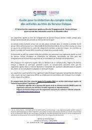 Plan type - Service Civique