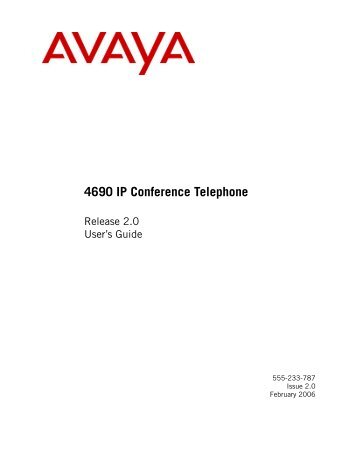 4690 IP Conference Telephone Release 2.0 User's Guide