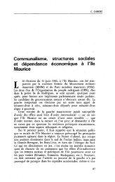 Communalisme, structures sociales et ... - Politique Africaine