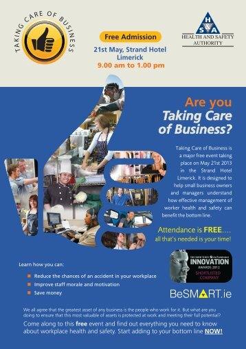 Are you Taking Care of Business? - BeSMART.ie