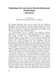 Maßnahmen für eine bessere Bewirtschaftung der ... - SDN