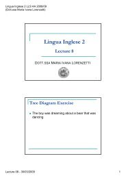 Lecture 08 - exercises - 30/03/2009 (pdf, en, 105 KB, 4/19/09)