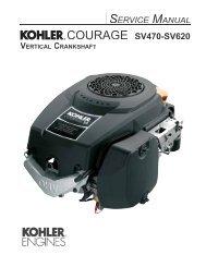 COURAGE SV470-SV620 - Kohler Engines