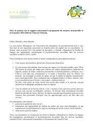 Prise de position de l'Association suisse des thérapeutes de la ...
