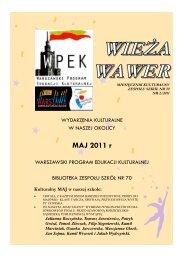 kurier 5-2011 - Witamy na stronie Zespołu Szkół nr 70 w Warszawie