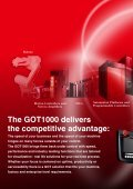 Mitsubishi Graphic Operation Terminal GOT1000 ... - Omni Ray AG - Page 2