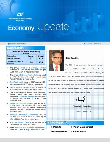Economy Update 25 April_1 May - CII