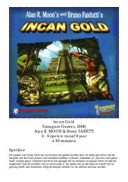 Incan Gold Funagain Games, 2006 Alan R. MOON ... - Forum Mortsel
