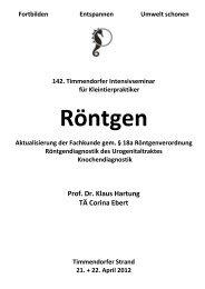 Prof. Dr. Klaus Hartung TÄ Corina Ebert - Timmendorfer Tierärzte ...