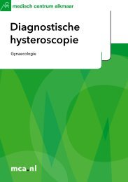 Diagnostische hysteroscopie - Mca
