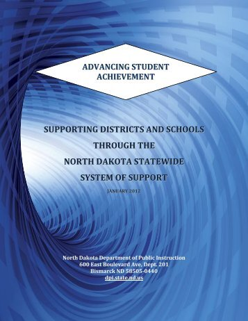 ND Statewide System of Support - North Dakota Department of ...