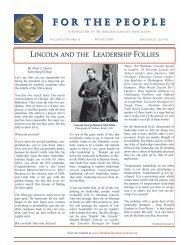Winter 2010 - Abraham Lincoln Association