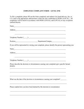 Complaint Form- Students And Parents - Industrial Isd