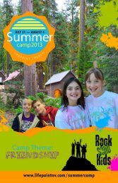 Download This Year's Camp Brochure. - Life Point